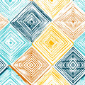 Hand drawn rhombus seamless pattern Royalty Free Stock Photo