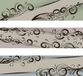 Hand Drawn scroll banners Royalty Free Stock Images