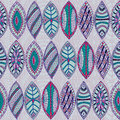 Hand drawn seamless abstract ethnic pattern