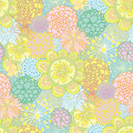 Hand drawn seamless floral pattern Stock Photo
