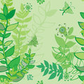 Hand-drawn seamless leaves pattern Stock Photos