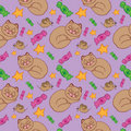 Hand drawn seamless pattern Royalty Free Stock Photo