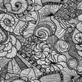 Hand drawn seamless pattern Stock Photos