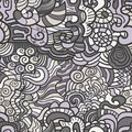 Hand-drawn seamless pattern Stock Images