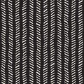 Hand drawn seamless pattern. Abstract geometric tiling background in black and white. Vector stylish doodle line lattice