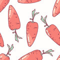 Hand drawn seamless pattern with carrot. Background for cafe, kitchen or food package