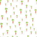 Hand drawn Seamless pattern with carrot