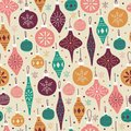 Hand Drawn Seamless Pattern with Christmas Balls. Royalty Free Stock Photo