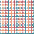 Hand drawn seamless pattern with crossing painted lines. Vector texture for print, paper wallpaper, home decor Royalty Free Stock Photo