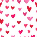Hand drawn seamless pattern with hearts. Msde with marker