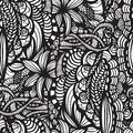 Hand drawn seamless pattern may be used as background Stock Photography