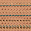 Hand drawn seamless pattern with mushrooms.