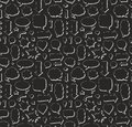 Hand drawn seamless pattern of speech bubbles and arrows Royalty Free Stock Photo