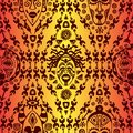 Hand drawn seamless pattern with Tribal mask ethnic. Sketch for your design, wallaper, textile, print. African culture Royalty Free Stock Photo