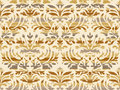 Hand drawn seamless stylized foliage striped damask background vector Royalty Free Stock Photo