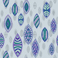 Hand drawn seamless vector abstract ethnic pattern