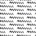 stock image of  Hand drawn seamless zigzag background