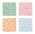 Hand-drawn Set of seamless patterns textures abstract