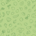 Hand drawn sketch fruits and vegetable pattern