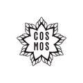 Hand drawn, sketch illustration of cosmos logo
