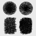 Hand drawn sketches rough hatching grunge texture vector illustration Stock Photos