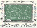 Hand-Drawn Sketchy Back to School Doodles Stock Image