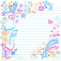 Hand-Drawn Sketchy Back to School Doodles Royalty Free Stock Photos