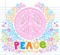 Hand-Drawn Sketchy Peace Sign Lettering Doodles Stock Images