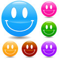 Hand drawn smile face web vector design elements set eps Stock Photos