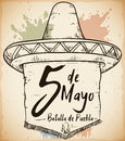 Hand Drawn Sombrero for Mexican Cinco de Mayo Celebration, Vector Illustration