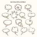 Hand Drawn Speech Bubbles Sketch Royalty Free Stock Photo