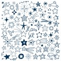Hand drawn Stars Vector Set