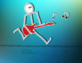 Guitar player II Royalty Free Stock Photo