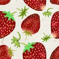 Hand drawn strawberries on white seamless pattern