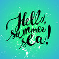 Hand drawn summer card