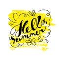 Hand drawn summer card.