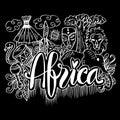 Hand Drawn Symbols Of Africa Royalty Free Stock Photo