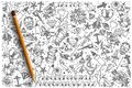 Hand drawn Tattoo vector doodle set Royalty Free Stock Photo