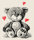 Hand drawn teddy bear Royalty Free Stock Photo