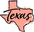 Hand Drawn Texas State Sketch Royalty Free Stock Photo