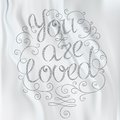 Hand drawn text lettering you are loved vector illustration Stock Photography