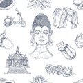 Hand Drawn Thai Pattern