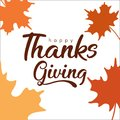 Lettering happy thanksgiving typhography poster