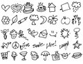 Hand drawn Tiny birthday Party doodles
