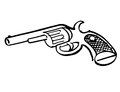 Hand drawn toy gun illustration of a Royalty Free Stock Images