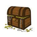Hand drawn treasure chest illustration of a Stock Photo