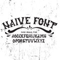Hand drawn trendy font.