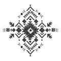 Hand drawn tribal design element Royalty Free Stock Photo