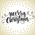 Hand drawn typography card. Merry christmas Royalty Free Stock Photo