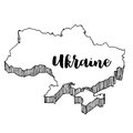 Hand drawn of Ukraine map